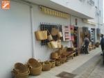artículos de esparto en mercaillo artesanal de Níjar