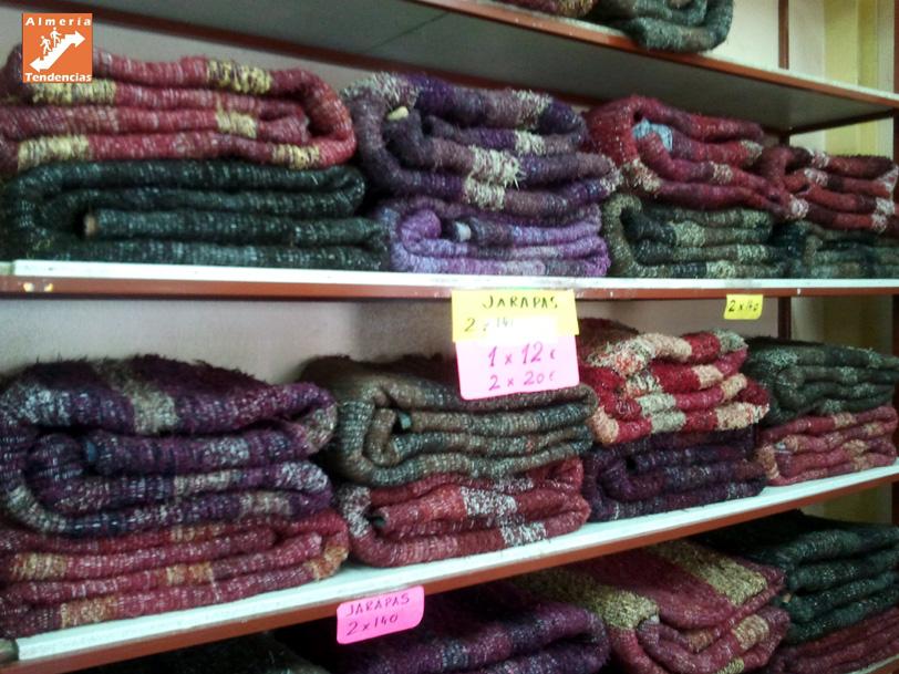 Jarapas en tienda de Níjar