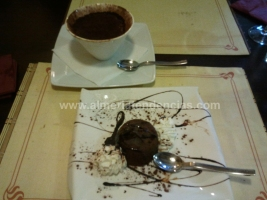 tiramisú y suflé de chocolate - Tramonto da Massimiliano