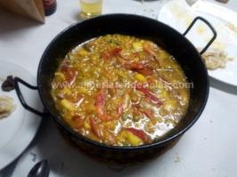 Paella mixta en Sierra Alhamilla