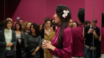 Cristina Samaniego en su escuela de danza oriental