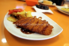 Pollo empanado con salsa barbacoa Dond'Elio