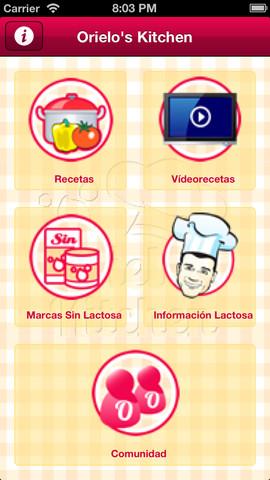 app cocina sin lactosa menú