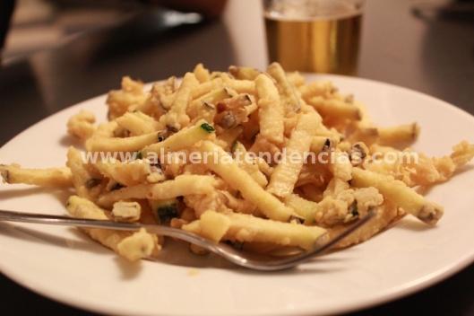 tempura de verduras en Garden arte y cocina