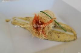 gamba blanca kataifi con mayonesa de mostaza en La Soleá Almerimar