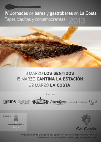 La Costa - El Ejido - Jornadas  bares y gastrobares gastronomía - el ejido