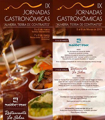 Torreluz Mediterráneo - Gastronomia - Jornadas almería tierra de contrastes