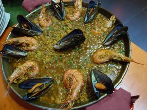 Paella de mariscos en Bar El Cachivache