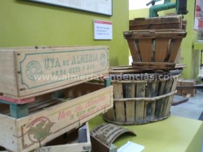 Cajas embasado uvas en Museo Terque