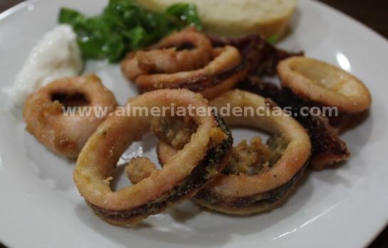 Calamares fritos en La Raspita