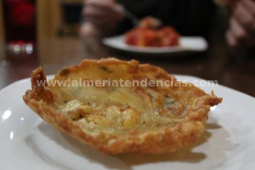 Tortita de camarones en La Raspita