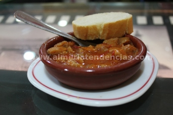 Pota en salsa en La Raspita