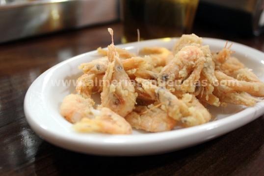 gambilla frita en Taberna Sacromonte