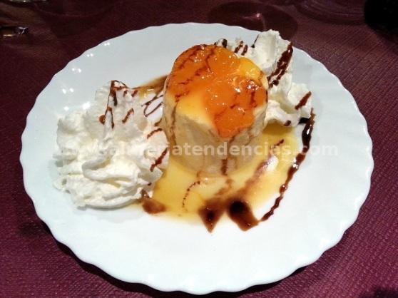 Flan de mandarina en Casa Joserra