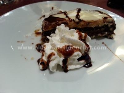 Tarta 3 chocolates en Casa Joserra