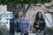 Esperando instrucciones en plaza Careaga - Cena Clandestina