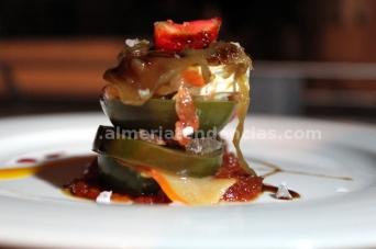 Montadito de tomate raf con salazones - Restaurante Catedral