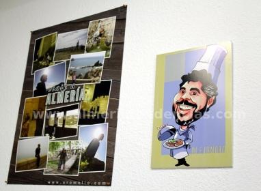 caricaturas y poster