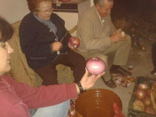 Cebollas para las morcillas de la matanza